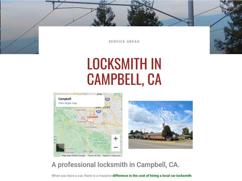 a website for a locksmith in san jose