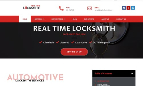 real time locksmith in san jose