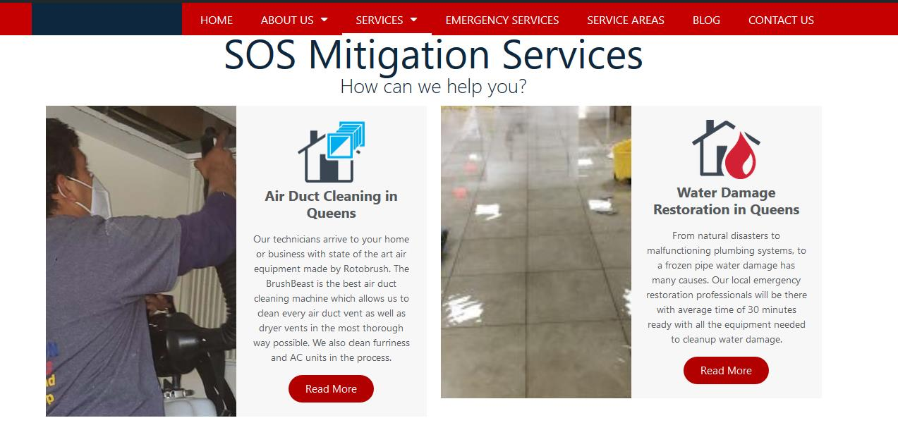colors water damage restoration
